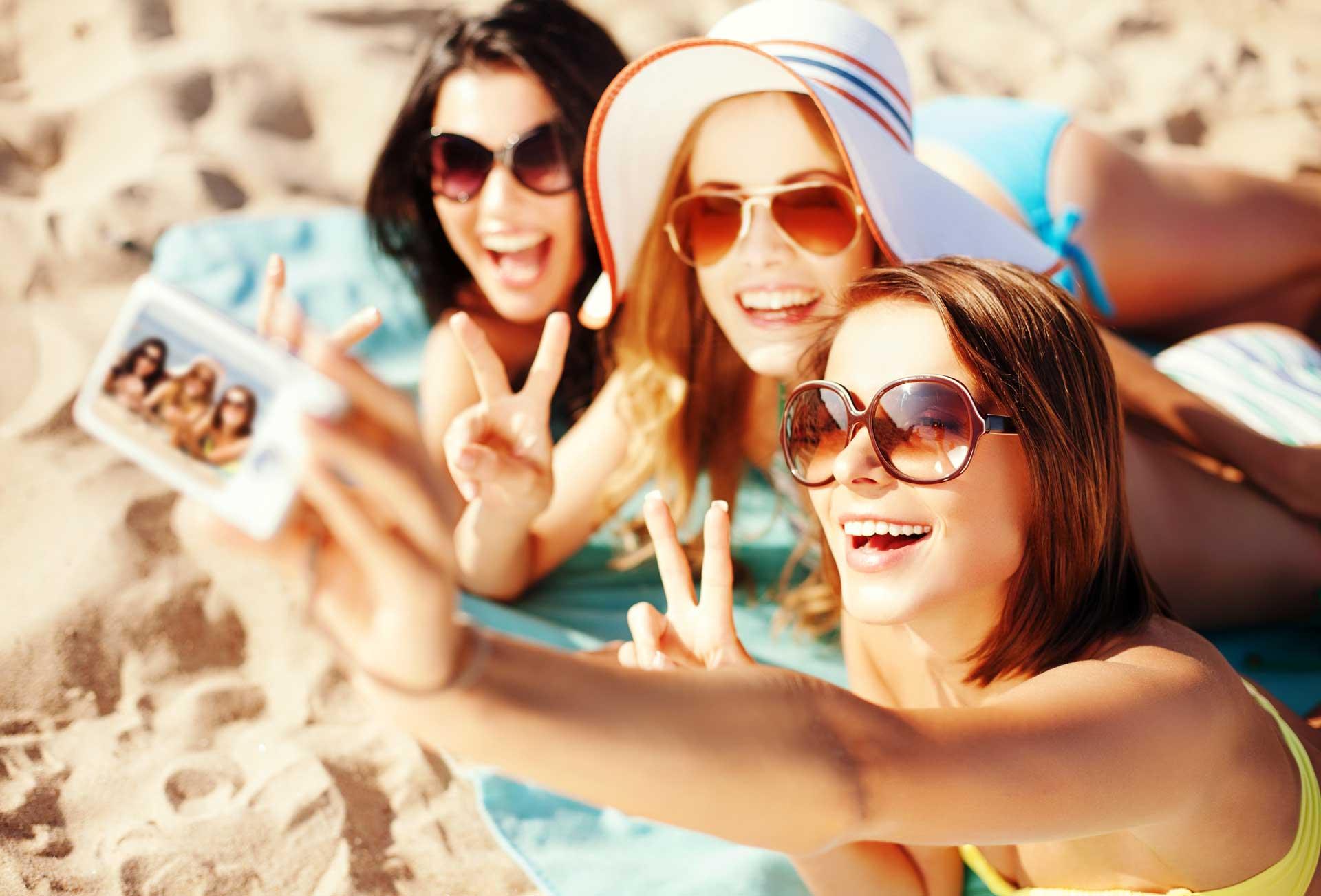 Urlaubs-Selfie